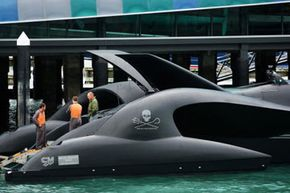 The Ady Gil, Sea Shepherd's stealth anti-whaling boat, was made to approach whaling vessels almost unseen.