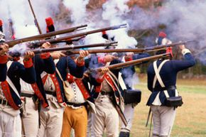 There were 25,000 colonist casualties during the American Revolution. See more pictures of the Revolutionary War.