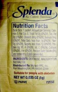 Sucralose is a very popular sugar substitute that contains no calories.