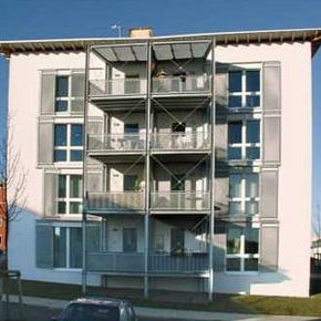 This passive house building proved that the standard could be applied to multi-story housing units, as well.