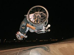 Extreme Sports Image Gallery Aaron Fotheringham performs a back flip in his wheelchair. See more pictures of extreme sports.