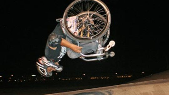 How do you do a back flip in a wheelchair?