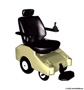 A powered wheelchair is commonly used by tetraplegics. In many cases, there is very subtle control left in one or both hands -- combine that with an extremely sensitive joystick, and wheelchair control is possible.