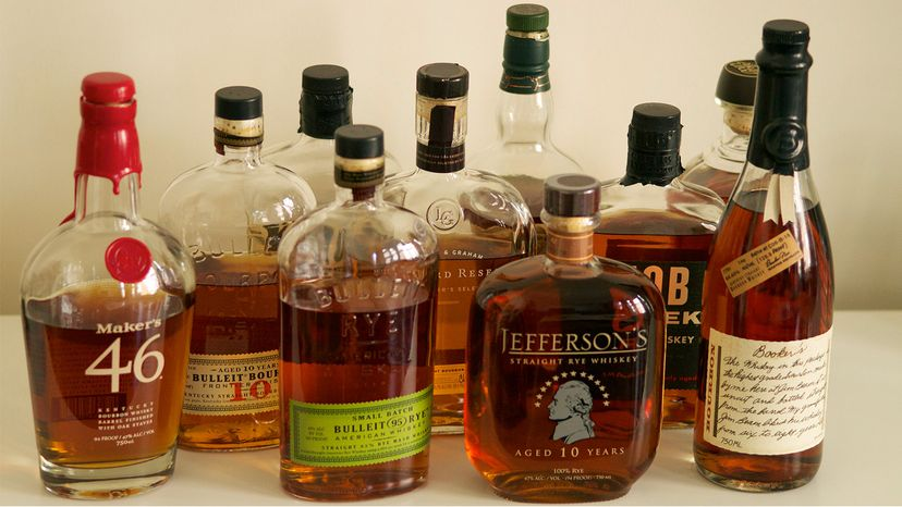 American whiskey and bourbon