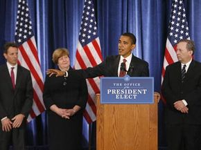 President-elect Barack Obama and his economic team hold a press conference.