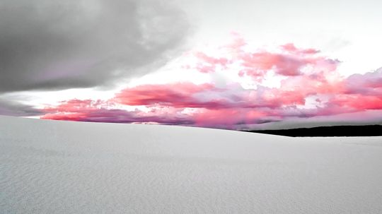 The Snowy Dunes of White Sands National Monument Witnessed Atomic History