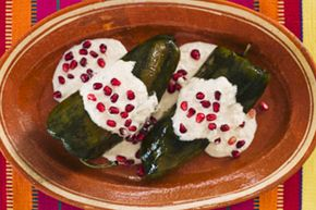 Chiles en nogada (chili peppers in a walnut sauce, loosely translated) is a delicious, colorful Mexican dish that you can give the whole-foods treatment.