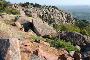 The view from the top of Mount Scott, part of the Wichita Mountain Wildlife Refuge in southwestern Oklahoma. See more pictures of national parks.