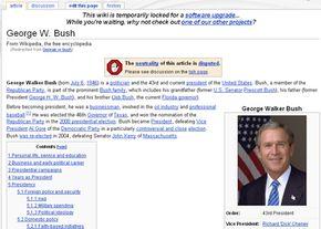 "Wikipedia's ""George W. Bush"" entry"