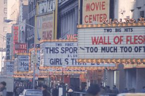 Back in 1967, New York City's 42nd Street offered quite the barrage of carnal temptations to passing pedestrians.