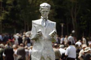 Nikola Tesla -- pictured here in statue form in his native village of Smiljan, Croatia -- is the jumping point for one new wind design.