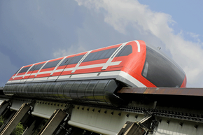 Magnetic levitation is already used to move trains, like this one being tested in Germany.