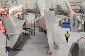 The wear and tear on traditional rotor blades contributes to the cost of wind power.
