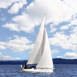 Ancient sailors first harnessed the power of the wind to power their boats.