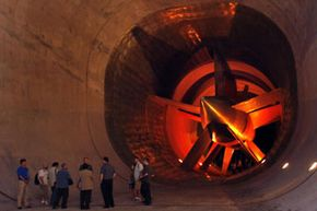 General Motors owns the world's biggest wind tunnel dedicated to auto testing. The fan has a 43-foot (13-meter) diameter.