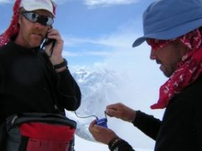 A wind up cell phone charger relies on the energy you create by turning a simple crank.