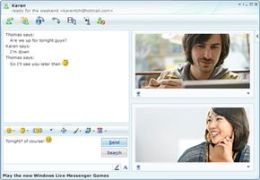 Windows Live Messenger lets users chat with friends from Xbox 360.