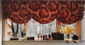 © A balloon valance shade, all the embellishment this window needs, conveys traditional decor with its jewel-toned fabric.
