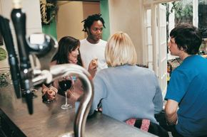 Lots of hip, urban areas have wine bars where patrons can taste or serve themselves tap wine.