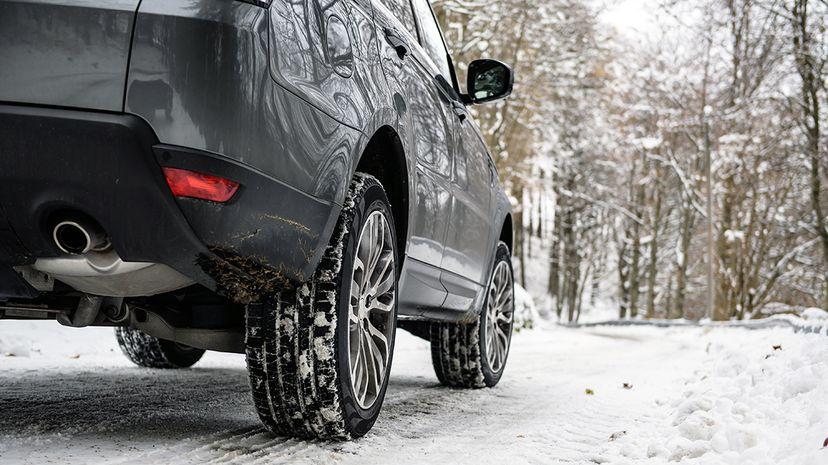 winter tires on SUV