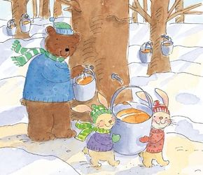 For Jesse Rabbit, it was great fun watching the bigger bears tap the trees for sweet sap.