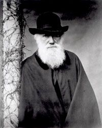 No, this isn't a member of ZZ Top -- it's everybody's favorite naturalist, Chuck Darwin. See pictures of geniuses.