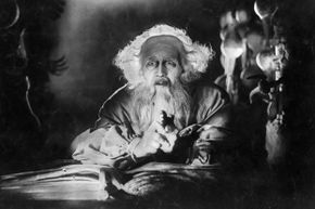 """Faust weighs the worth of his eternal soul. Further study: See the iconic 1926 F. W. Murnau film """"Faust"""" or read Johann Wolfgang von Goethe's tragic play of the same name."""