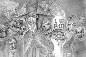 """Rincewind stands out as a champion of bumbling wizardry. Further study: Read the Discworld books of Terry Pratchett, particularly """"The Colour of Magic"""" and """"The Light Fantastic."""""""