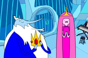 """The Ice King kidnaps another princess, which he considers an acceptable form of courtship. Further study: Watch """"Adventure Time"""" on Cartoon Network."""