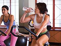 Classes are the perfect way to incorporate a workout with a friend.