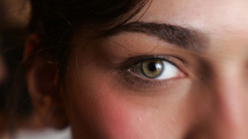 pupil, woman