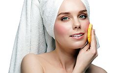 Exfoliating can help smooth out rough skin.