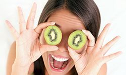 Eating a healthy diet can improve the tone and texture of your skin.