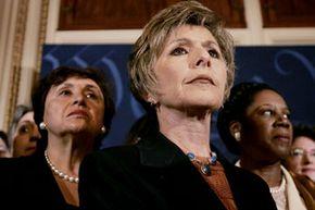 U.S. Sen. Barbara Boxer stands with a group of fellow Washington women.
