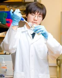 A lab assistant is one of the many jobs students can get through a work-study program.