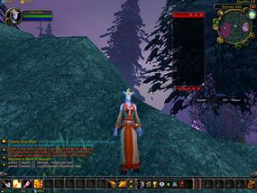 This user interface has addon bars at the top and bottom as well as windows for measuring damage and threat.
