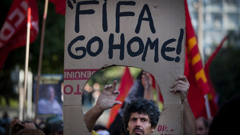 Protesters at 2014 World Cup
