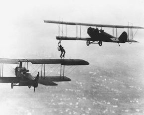 The world's first mid-air refueling.