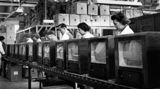 How did World War II affect television?