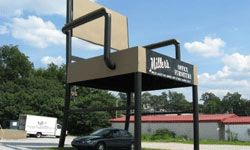 The World's Largest Chair was created as an advertisement for Miller's Office Furniture in Anniston, Alabama.