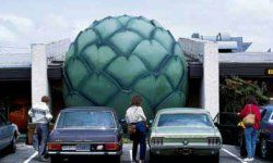 The World's Largest Artichoke measures 20 feet and heads the Artichoke Festival in Castroville, California. Learn about this gigantic green veggie.