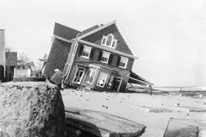 The Ash Wednesday storm caused a lot of damages to homes, like this one on Rehoboth Beach, Delaware.