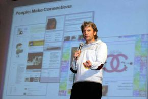 Chris DeWolfe, then-head of MySpace, gives a lecture at Yonsei University in Seoul in 2008. At the time, MySpace was trying to launch in South Korea.