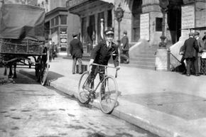 A Western Union messenger, age 15, delivers telegrams in 1912. Back then, Western Union bet on telegrams rather than telephones as the wave of the future.