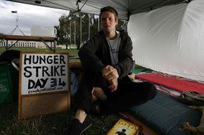 man on hunger strike