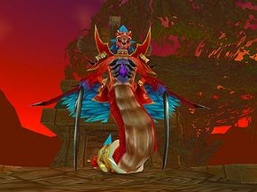 The god Hakkar, the final boss of the level-60 raid instance Zul'Gurub, requires a group of up to 20 players to kill.