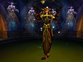 Sylvannas Windrunner, leader of the Undead, was once a high elf. Out of spite, Arthas resurrected her as a banshee.