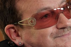 """Bono hangs out at the opening session of the 2012 Oslo Forum. Somehow he doesn't seem terribly concerned about that lyric in the song """"Pride (In The Name Of Love)."""""""