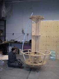 Beginning of construction on the da Vinci rocket