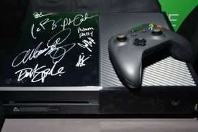 A signed Xbox One that was part of Variety's 4th Annual Power of Comedy event benefiting the Noreen Fraser Foundation at Avalon.